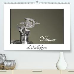 Oldtimer – edle Kühlerfiguren (Premium, hochwertiger DIN A2 Wandkalender 2021, Kunstdruck in Hochglanz) von Ehrentraut,  Dirk