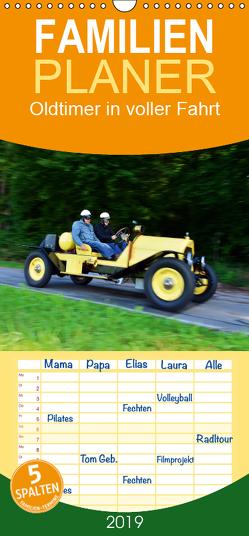 Oldtimer in voller Fahrt – Familienplaner hoch (Wandkalender 2019 , 21 cm x 45 cm, hoch) von Laue,  Ingo
