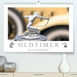 Oldtimer – Kunst am Kühlergrill (Premium, hochwertiger DIN A2 Wandkalender 2020, Kunstdruck in Hochglanz) von Meyer,  Dieter