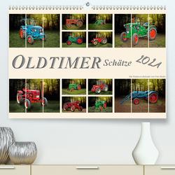 Oldtimer Schätze. Ein Traktoren-Kalender (Premium, hochwertiger DIN A2 Wandkalender 2021, Kunstdruck in Hochglanz) von Roder,  Peter