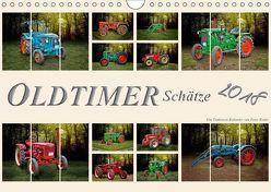 Oldtimer Schätze. Ein Traktoren-Kalender (Wandkalender 2018 DIN A4 quer) von Roder,  Peter