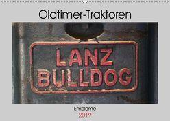 Oldtimer Traktoren – Embleme (Wandkalender 2019 DIN A2 quer) von Ehrentraut,  Dirk