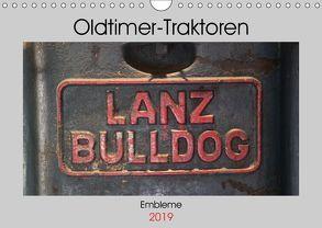 Oldtimer Traktoren – Embleme (Wandkalender 2019 DIN A4 quer) von Ehrentraut,  Dirk