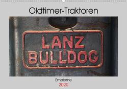Oldtimer Traktoren – Embleme (Wandkalender 2020 DIN A2 quer) von Ehrentraut,  Dirk