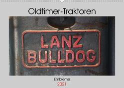Oldtimer Traktoren – Embleme (Wandkalender 2021 DIN A2 quer) von Ehrentraut,  Dirk