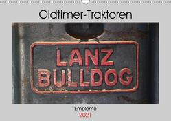 Oldtimer Traktoren – Embleme (Wandkalender 2021 DIN A3 quer) von Ehrentraut,  Dirk