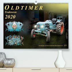 Oldtimer – TraktorenAT-Version (Premium, hochwertiger DIN A2 Wandkalender 2020, Kunstdruck in Hochglanz) von Roder,  Peter