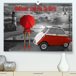 Oldtimer und Pin-Up Girls by Mausopardia (Premium, hochwertiger DIN A2 Wandkalender 2020, Kunstdruck in Hochglanz) von Jüngling alias Mausopardia,  Monika