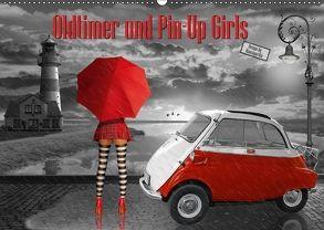 Oldtimer und Pin-Up Girls by Mausopardia (Wandkalender 2018 DIN A2 quer) von Jüngling alias Mausopardia,  Monika