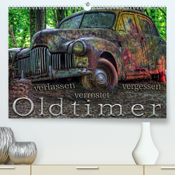 Oldtimer – verlassen verrostet vergessen (Premium, hochwertiger DIN A2 Wandkalender 2021, Kunstdruck in Hochglanz) von Adams foto-you.de,  Heribert