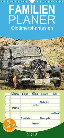 Oldtimerphantasien – Familienplaner hoch (Wandkalender 2019 , 21 cm x 45 cm, hoch) von Jaeger,  Michael, mitifoto
