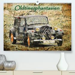 Oldtimerphantasien (Premium, hochwertiger DIN A2 Wandkalender 2021, Kunstdruck in Hochglanz) von Jaeger,  Michael, mitifoto