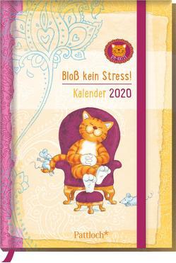 Om-Katze: Bloß kein Stress! Taschenkalender 2020 von Manneh,  Lisa