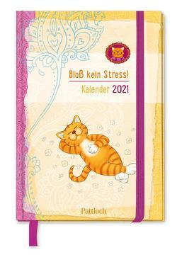 Om-Katze: Bloß kein Stress! Taschenkalender 2021 von Manneh,  Lisa