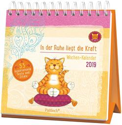 Om-Katze: In der Ruhe liegt die Kraft – Wochen-Kalender 2019 von Manneh,  Lisa