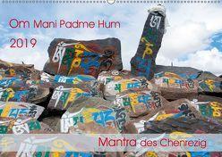 Om Mani Padme Hum – Mantra des Chenrezig (Wandkalender 2019 DIN A2 quer)