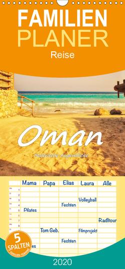Oman – Malerische Augenblicke – Familienplaner hoch (Wandkalender 2020 , 21 cm x 45 cm, hoch) von Hackstein,  Bettina