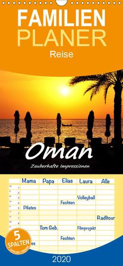 Oman – Zauberhafte Impressionen – Familienplaner hoch (Wandkalender 2020 , 21 cm x 45 cm, hoch) von Hackstein,  Bettina