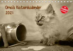 Oma's Katzenkalender 2021 (Tischkalender 2021 DIN A5 quer) von Säume,  Sylvia