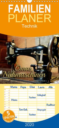 Omas Nähmaschinen – Familienplaner hoch (Wandkalender 2020 , 21 cm x 45 cm, hoch) von Bleicher,  Renate