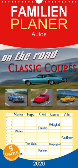 on the road Classic Coupés – Familienplaner hoch (Wandkalender 2020 , 21 cm x 45 cm, hoch) von oldshutterhand