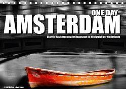 One Day Amsterdam (Tischkalender 2018 DIN A5 quer) von Fotodesign,  Black&White, Wehrle und Uwe Frank,  Ralf