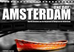 One Day Amsterdam (Tischkalender 2019 DIN A5 quer) von Fotodesign,  Black&White, Wehrle und Uwe Frank,  Ralf