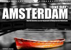 One Day Amsterdam (Wandkalender 2019 DIN A4 quer) von Fotodesign,  Black&White, Wehrle und Uwe Frank,  Ralf