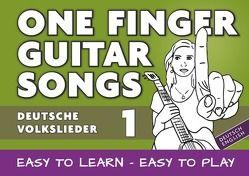 One Finger Guitar songs / 24 deutsche Volkslieder – Teil 1 – wohl das einfachste Gitarrenbuch von Notenladen,  Linzer
