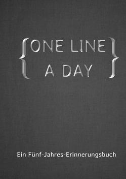 ONE LINE A DAY – Ein Fünf-Jahres-Erinnerungsbuch von Cooper,  Alexondra, Hill,  Alex