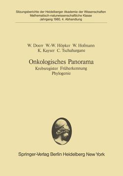 Onkologisches Panorama von Doerr,  W., Hofmann,  Werner, Höpker,  W.-W., Kayser,  K., Tschahargane,  C.