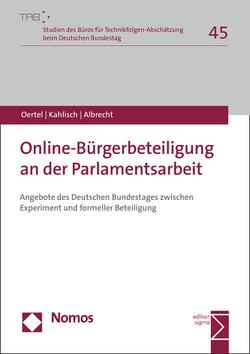 Online-Bürgerbeteiligung an der Parlamentsarbeit von Albrecht,  Steffen, Kahlisch,  Carolin, Oertel,  Britta