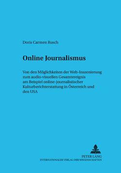 Online Journalismus von Rusch,  Doris Carmen