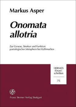 Onomata allotria von Asper,  Markus