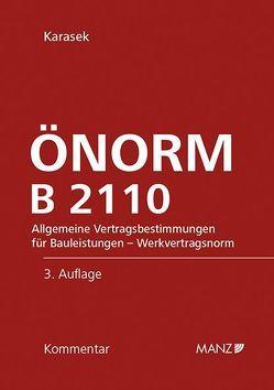 ÖNORM B 2110 von Karasek,  Georg