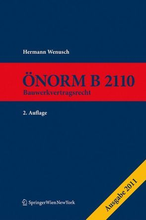 ÖNORM B 2110 von Wenusch,  Hermann