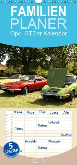 Opel GT Der Kalender – Familienplaner hoch (Wandkalender 2019 , 21 cm x 45 cm, hoch) von Bagunk,  Anja