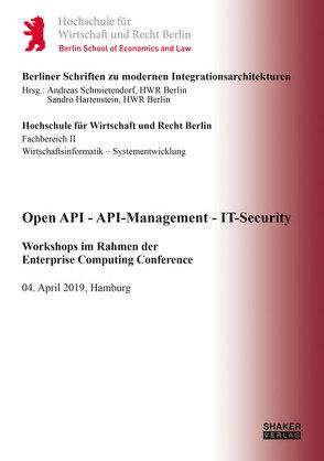 Open API – API-Management – IT-Security von Hartenstein,  Sandro, Schmietendorf,  Andreas