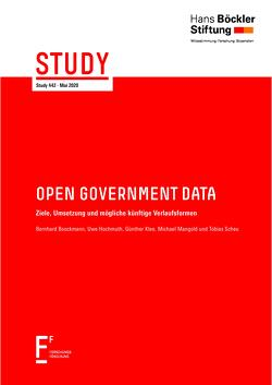 Open Government Data von Boockmann,  Bernhard, Hochmuth,  Uwe, Klee,  Günther, Mangold,  Michael, Scheu,  Tobias