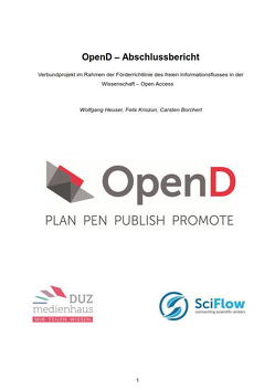 OpenD – Abschlussbericht von Borchert,  Carsten, Heuser,  Wolfgang, Kriszun,  Felix