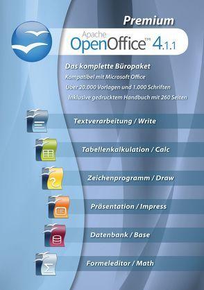 OpenOffice 4.1.1 Premium Edition + 260 seitiges gedrucktes Handbuch + 1.000 Schriften + 20.000 Office Vorlagen