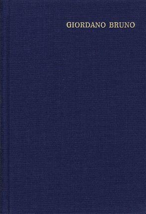 Opera Latine Conscripta von Bruno,  Giordano
