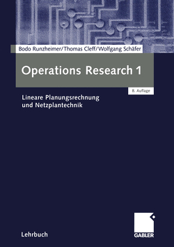 Operations Research 1 von Cleff,  Thomas, Runzheimer,  Bodo, Schäfer,  Wolfgang