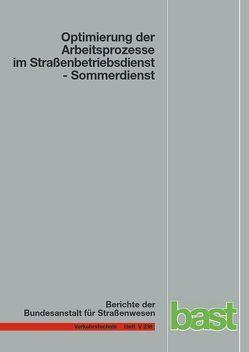 Optimierung der Arbeitsprozesse im Straßenbetriebsdienst von Jung,  Philipp, Martin,  Schmauder, Paritschkow,  Silke