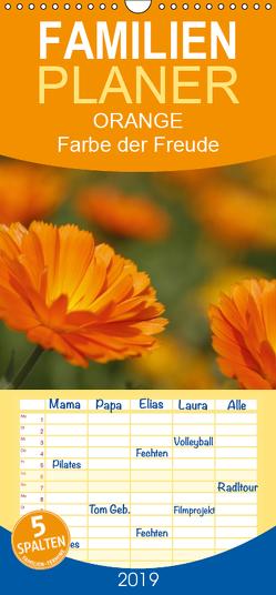 ORANGE – Farbe der Freude – Familienplaner hoch (Wandkalender 2019 , 21 cm x 45 cm, hoch) von Lindert-Rottke,  Antje