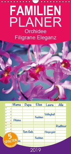 Orchideen: Filigrane Eleganz – prachtvolle Farben – Familienplaner hoch (Wandkalender 2019 , 21 cm x 45 cm, hoch) von CALVENDO