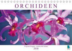 Orchideen: Filigrane Eleganz – prachtvolle Farben (Tischkalender 2018 DIN A5 quer) von CALVENDO,  k.A.