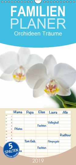 Orchideen Träume – Familienplaner hoch (Wandkalender 2019 , 21 cm x 45 cm, hoch) von cmarits,  hannes