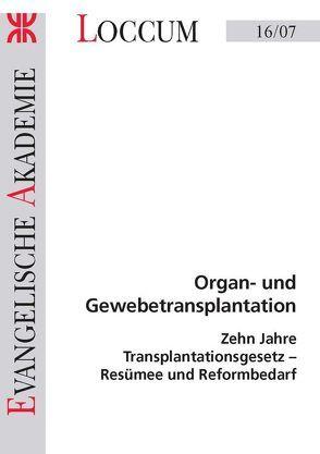 Organ-und Gewebetransplantation von Charbonnier,  Ralph, Laube,  Martin