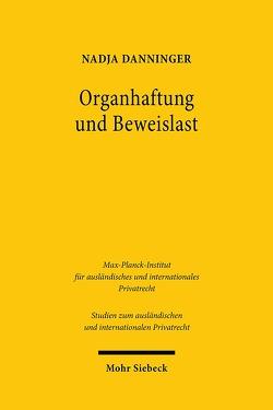 Organhaftung und Beweislast von Danninger,  Nadja